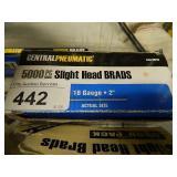 Stapke Gun & Almost Full Box Of Slight Head Brads