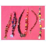 Glass Beaded Bracelets Lot
