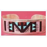 Zuni Leander & Lisa Othole Channel Inlay Bracelet