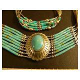 Sterling Barbara Brewer Heishi Choker & Bracelet