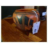 """1980s Native Hopi Pottery Bowl 4.5"""" Tall"""