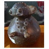 "Primitive Figural Lady Native Pottery Unsigned 7"""