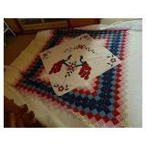 "105"" Square Handmade Quilt"
