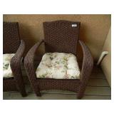 2 Outdoor Woven Back Chairs