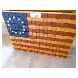 American Flag Art Made From 4 Differant Woods