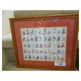 22 Cent Framed State Animal Stamp Collection