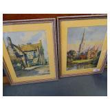 Antique English Watercolors