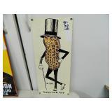 Vintage Enamel Mr Peanut Sign