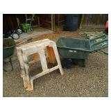 Damaged Garden Cart etc