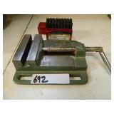 "4"" Machinist Vise & Steel Stamp Set"
