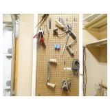 Pegboard Tool Lot Wood Tools & Clamps