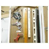 Pegboard 2 Levels Clamps Etc Lot