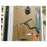 Pegboard 3  Saw Hammers Etc Lot