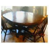 Solid Cherry Wood DIning SetW/ Spindle Back Chairs
