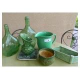 Ceramic & Glassware Lot W/ Pitcher