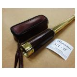 Brass & Leather Travel View Monocular 25x30