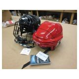 2 Hockey Helmets