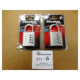 2 Master Lock Combination Locks