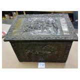 "Raised Copper & Wood Storage Box 22""x17""x14"""