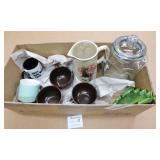 Box Lot of Mugs, Jugs & Other