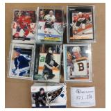 Lot of 7 Hockey Cards in Cases