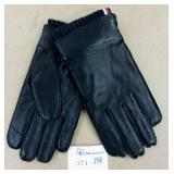 Tommy Hilfiger Leather Touch Screen Gloves Size M