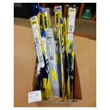 Box Lot of Mixed Sized RainX Open Package Wipers