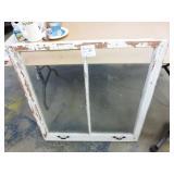 "Antique Wooden Window Frame w/Glass 35""x35"""