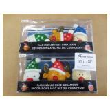 2 Packs Flashing LED Nose Ornaments