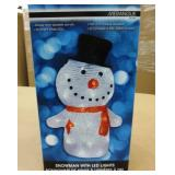 "LED Light up Snowman ~ Approx. 11"" Tall"