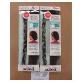 2 Scunci Hollywood Roll Hairbands