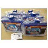 6 Finish Dual Action Dishwasher Cleaners 250ml/ea