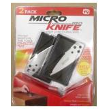 2 Pack Credit Card Micro Knives