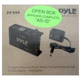 Pyle Compact Low Noise Phono Turntable Preamp