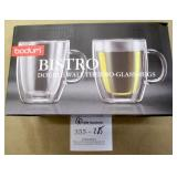 Bodum Bistro Double Wall Thermo Glass Mugs