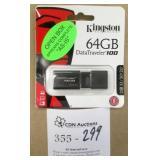 Kingston 64GB DataTraveler 100 USB