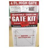 Fit Right Adjustable Chain Link 4ft High Gate