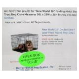 "36"" Folding Metal Dog Crate"