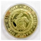 1933 Nazi German Gold Plated Replica Coin