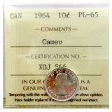 1964 Canada Silver 10 Cent