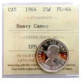 1964 Canada Silver 25 Cent