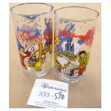 2 Walt Disney McDonalds Collector Glasses