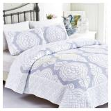 Royal Damask 2-Piece Twin/XL Quilted Bedspread