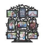 9 Photo Family Tree Picture Frame, Black