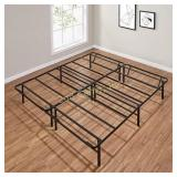 14in High King Foldable Steel Bed Frame