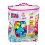 Mega Bloks Building Bag, 80 pcs, Pink