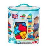 Mega Bloks Building Bag, 80 pcs, Blue