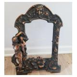 Very Ornate Cast Bronze Picture Frame