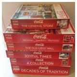Lot Of 6 Coca-Cola Puzzles Springbok Brand 1000-20