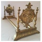 Brass Sliding Bookends Stand Ornate Conquistador